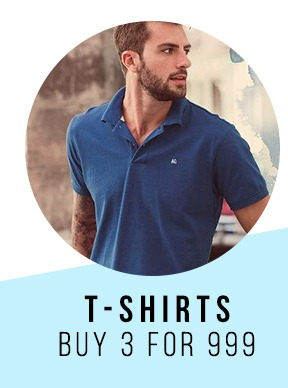 T-shirts 3 for 999