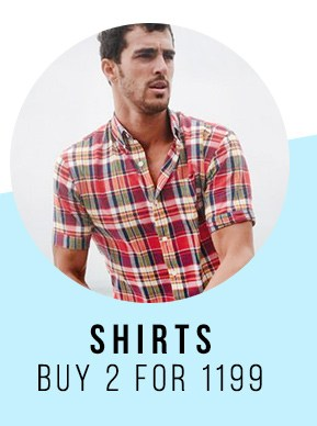 Shirts 2 for 1199