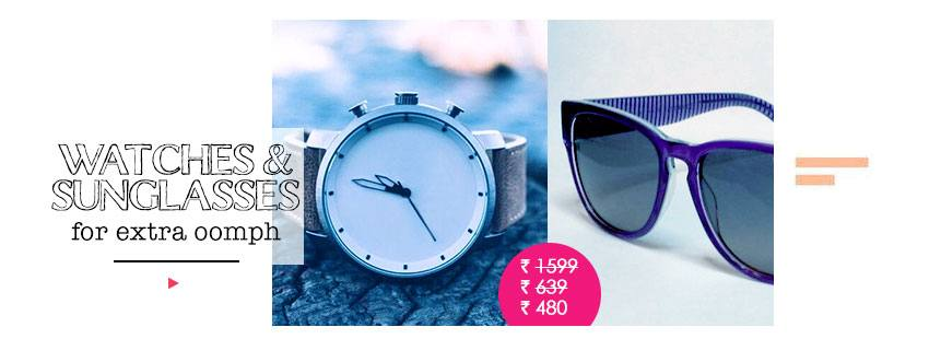 watches & sunglasses for extra oomph