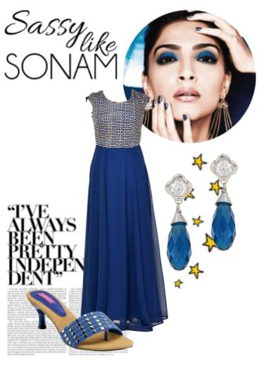 Buy Blue Earrings Blue Heels With Blue Dresses Scrapbook Look By Anjali