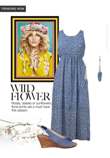 a6f71fbe257 Wild Flower - Buy Floral Blue Dresses