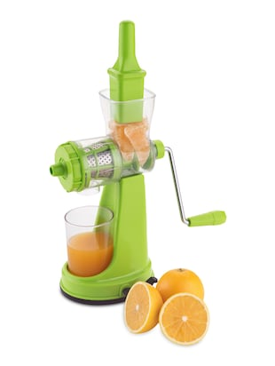 Jumbo Green Fruit & Vegetable Hand Juicer with Juice collector