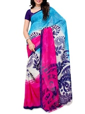 Color Block Georgette Saree - Ambaji