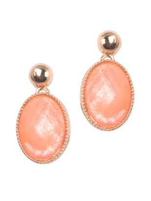 Orange oval drop earrings