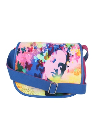Multi-colored Canvas Sling Bag