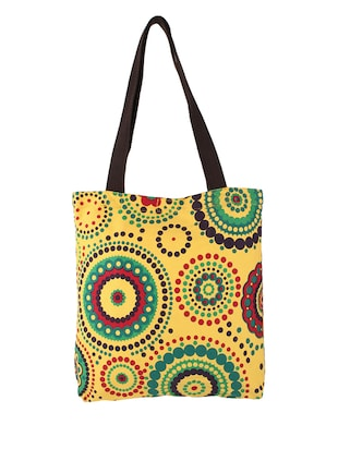 Yellow,Multi-colored Canvas Tote Bag