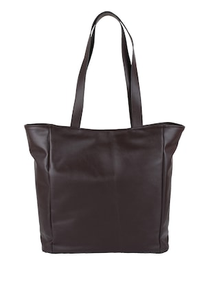 Brown Leatherette tote