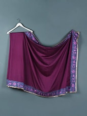 Plum Purple Kora Silk Saree - Designerz Hub