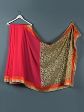 Pink and gold evening saree