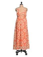 Multicolored Geometric Print Cotton Maxi Dress - Queens