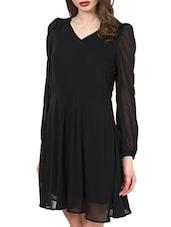 Black Bell Sleeves Dress - La Zoire