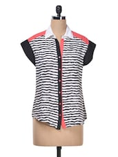 Black & White Stripes Shirt - AVIDDIVA