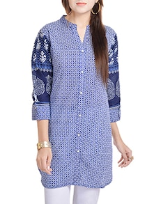 buy blue cotton kurta by adesa online shopping for. Black Bedroom Furniture Sets. Home Design Ideas