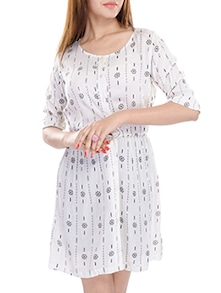 buy white rayon shirt dress by adesa online shopping for. Black Bedroom Furniture Sets. Home Design Ideas