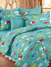 Green vehicles print AC quilt -  online shopping for Dohar