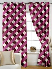 Pink Checkered Polyster Door Curtain - Story @ Home