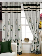 Grey Printed Polyster Door Curtain - Story @ Home