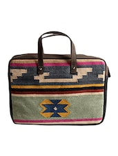 Multi Colored Cotton Laptop Bag - By - 10025095
