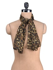 Animal Print Poly Georgette Scarf - By