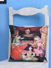 Indian Princesses Painting Cushion Cover Set - Belkado