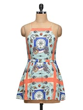 Nautical Print Strappy Dress - Ozel Studio
