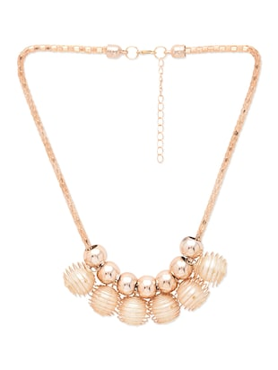 gold metal alloy,plastic,faux pearl necklace