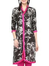 Black,white Rayon Regular Kurta - By