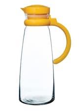 Transparent Glass Jug With Yellow Handle - Pasabahce
