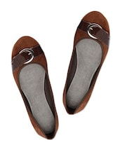 Adorable Chocolate Brown Suede Ballerina Flats - Bruno Manetti