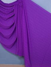 Woven Plain Chiffon Saree - Fabdeal