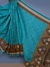 Art Silk Printed Saree - Fabdeal