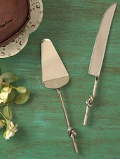 Love Knot Pie Server With Knife - Sage Koncpt