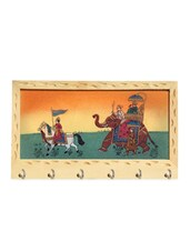 Wooden Procession Design Key Holder - Handicrafts Paradise