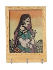 Wooden Bride Design Key Holder - Handicrafts Paradise