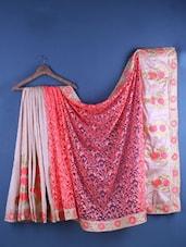 Multicolour Cotton Silk Floral Embroidered Saree - Suchi Fashion