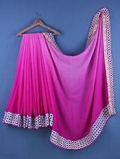 Pink Cotton Zari Embroidered Saree - Suchi Fashion