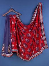 Multicolour Chiffon & Brasso Paisley Saree - Suchi Fashion