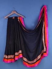 Black Net Zari Embroidered Saree - Suchi Fashion