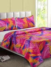 Pink Printed Cotton Double Bedsheet - Desi Connection