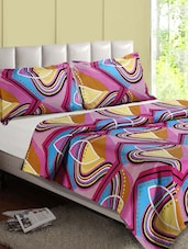 Multicolor Abstract Cotton Double Bedsheet - Desi Connection