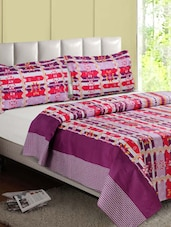 Multicolor Printed Cotton Double Bedsheet - Desi Connection