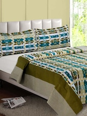 Multicolor Printed Cotton Double Bedsheet - Desi Connection - 1006931