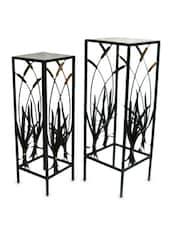 Black Metal Curio Tables (Set Of 2) - Inspired Livingg