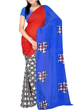 Multicoloured Floral Print Dani Georgette Saree - Ambaji