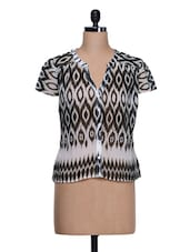 Ikat Print Casual Top - Trend 18