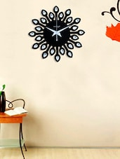 Random Jewel Leaf 12 Inches Black -  online shopping for Wall Clocks