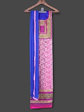 Pink Embroidered Suit Set - Manvaa
