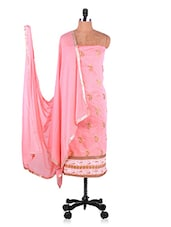 Baby Pink Embroidered Suit Set - Manvaa