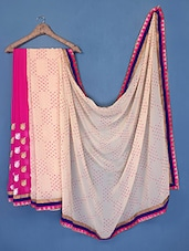 Embroidered Viscose Saree - Manvaa