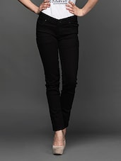 Jet Black Denim Jeans - LESLEY
